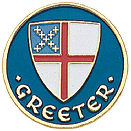Greeter Pin (B-93 Episcopal Shield 1