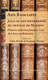 Julia ou les souterrains du château de Mazzini par Radcliffe