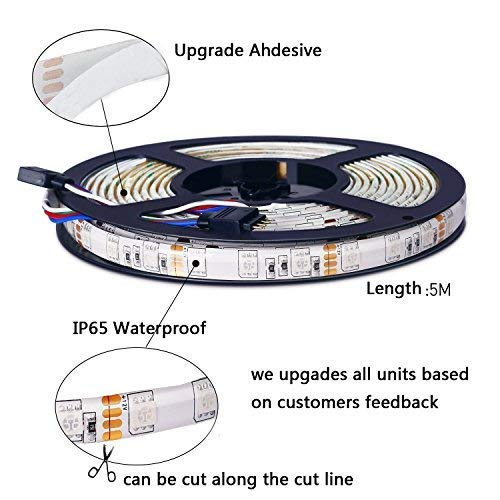 LEN Led Strip Lights 16.4 Feet Waterproof 150LEDs 5050 RGB Light Strip Complete Kit by LEN (Image #4)