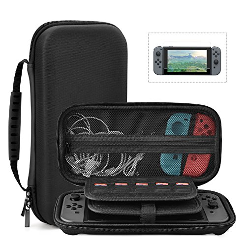 Case Pouch Eva Carrying (Nintendo Switch Protective Case, Portable Multi-Function Hard EVA Pouch Storage Bag Carrying Case For Nintendo Switch Console &Accessories Black)