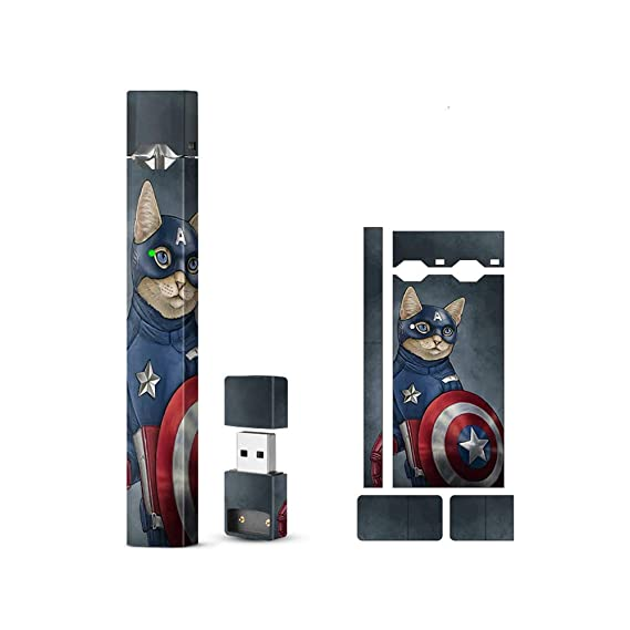 Shiodoki  Pack Juul Skin Marvel Hero Pubg Style Decal For Pax Juul Protective Sticker