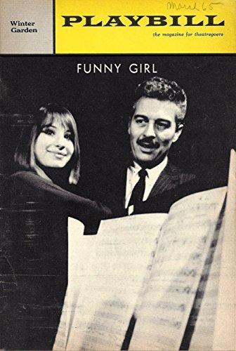"Barbra Streisand""FUNNY GIRL"" Sydney Chaplin/Kay Medford/Jule Styne 1965 Broadway Playbill"