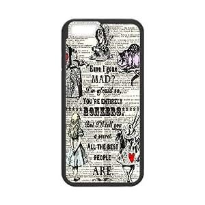 iPhone 6 6S 4.7 Inch funda Negro [PC dura del caso + HD Pattern] Alicia en el país A través de la serie Glass® Mirar [Numeración: JJJJDHKOD4369]