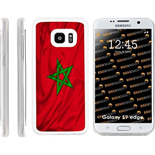Rikki Knight Morocco Flag Design Samsung Galaxy S7 Edge Case Cover (Clear Rubber with front Bumper Protection) for Samsung Galaxy S7 Edge ONLY Sales