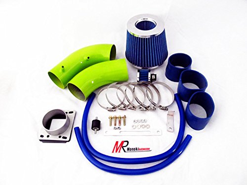 Pickup Injen Air Filter (88 89 90 91 92 93 94 95 Toyota Pickup/4Runner 3.0 V6 Green Piping Cold Air Intake System Kit with Blue Filter)