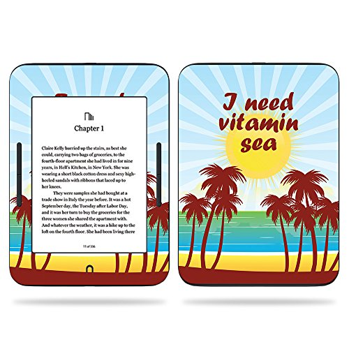 MightySkins Skin for Barnes & Noble Nook GlowLight 3 (2017) - Vitamin Sea | Protective, Durable, and Unique Vinyl Decal wrap Cover | Easy to Apply, Remove, and Change Styles | Made in The USA