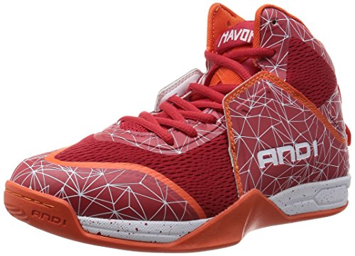 AND1 Havok - Zapatillas de béisbol Hombre Rojo - Rot (F1 red/fiery red/tiger lily & ORW)