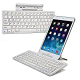 Cooper Cases(TM) K2000 Samsung Galaxy Tab Pro 8.4 (T320) / 3G / LTE Bluetooth Keyboard Dock in White (US English QWERTY Keyboard, Built-in Viewing Stand, Android / iOS / Windows compatible)