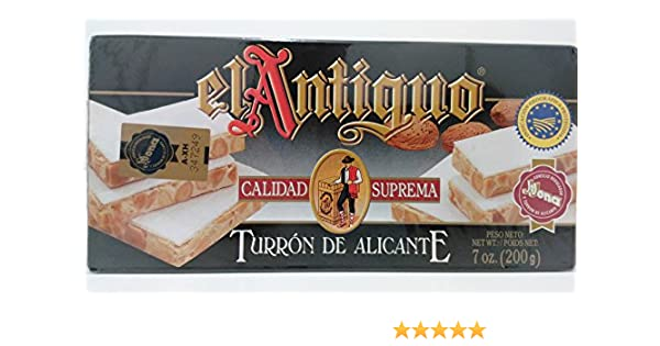 Amazon.com : El Antiguo Calidad Suprema Turron De Azlicante - Alicante Nougat : Grocery & Gourmet Food