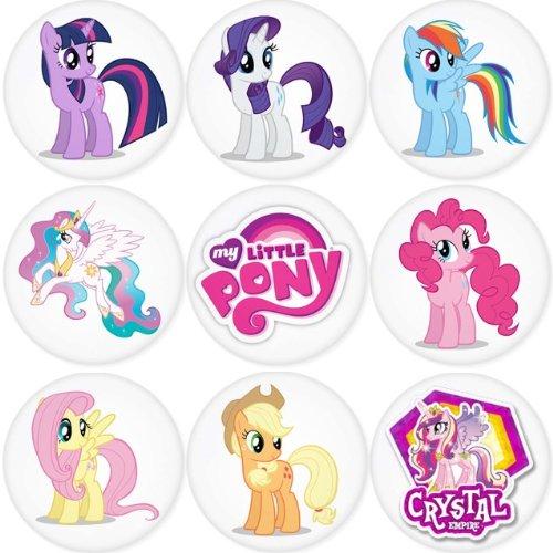 My Little Pony redondo insignias 1,75