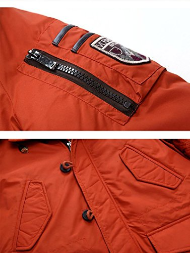 Blue Outdoor Tomwell Parka Mens Winter Coat Coats with Warm Dark Jacket Hood Thicken Field Outerwear Casual 4fqZ4RwW