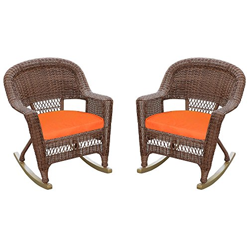 Jeco Rocker Wicker Chair