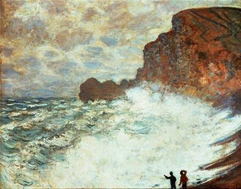 Oil Painting 'Stormy Seascape, 1883 By Claude Monet', 30 x 38 inch / 76 x 97 cm , on High Definition HD canvas prints is for Gifts And Gym, Home Office And Study Room Decoration, reviews
