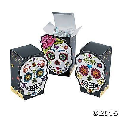 [Day of the Dead Favor Boxes - 12 ct] (Day Of The Dead Supplies)