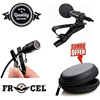 Premium Lavalier Lapel Coller Microphone Kit with Voice Recording Filter Mic for Recording Singing Youtube on Smartphones (Black)