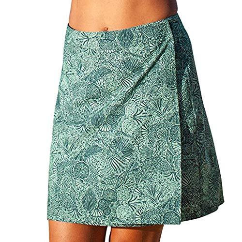 Ansenesna Beach Casual Wild Sewing Pattern Boho Party Elegant Women Print Quick Wrap Bikini Cover-up Multitasks Travel Lady Summer Skirt