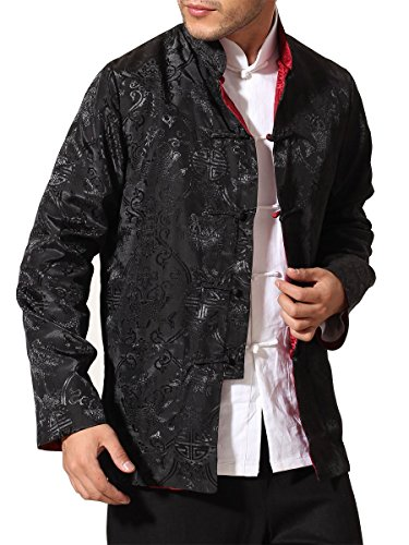 73c7babb0 Bitablue Men's Rayon-blend Reversible Chinese Shirt (Large, - Import ...