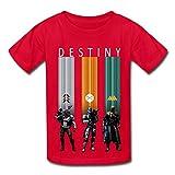 Kids Boys Girls Tee Destiny Hunter Warlock Titan Desting Game Red Size L