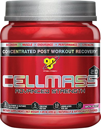 Bsn True Mass Chocolate - BSN CELLMASS 2.0 Post Workout Recovery with BCAA, creatine, & glutamine - Arctic Berry, (50 Servings)