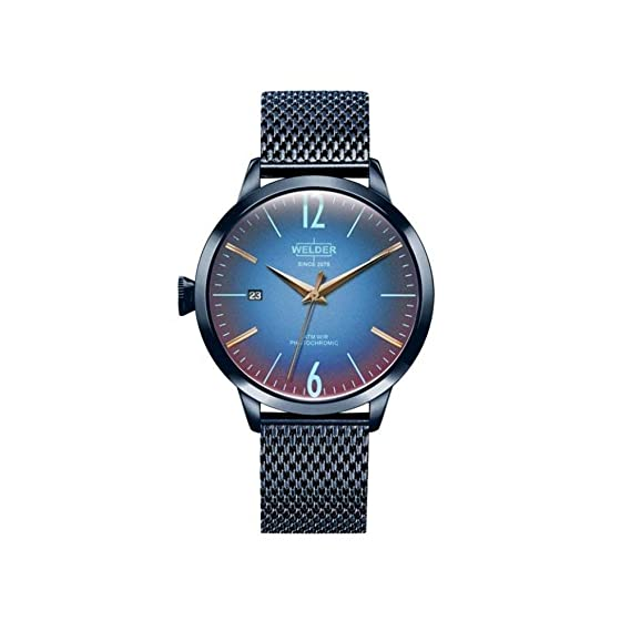 Welder Moody WRC609 - Reloj para mujer en acero con acabado IP en azul.: Amazon.es: Relojes