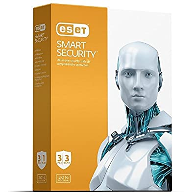 ESET NOD 32 Smart Security | 2017 (3 PC's- 3 Years) No CD- Only key via email