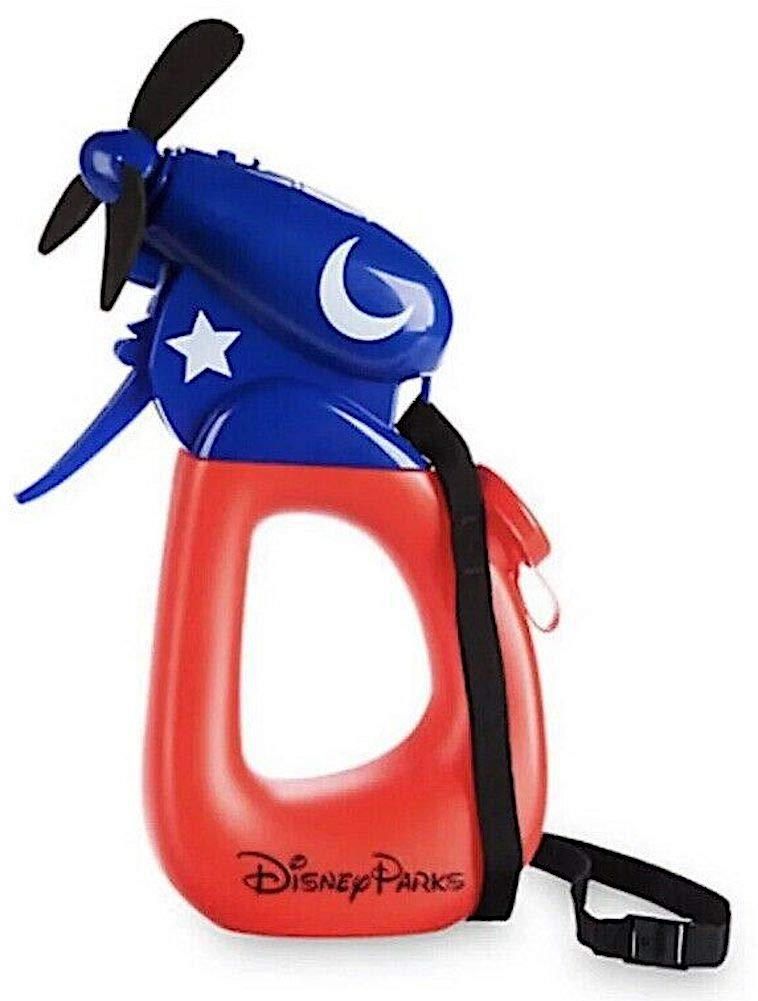 Disney Parks Sorcerer Mickey Mouse - Cooling Personal Hand Held Misting Fan with Neck Lanyard