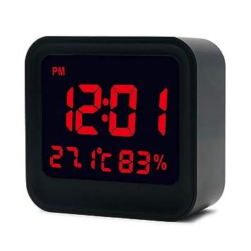 Shuangklei Multifunción Digital Led Despertador Niños Relojes De Mesa Grandes Números Pantalla Inteligente Reloj Luminoso: Amazon.es: Hogar