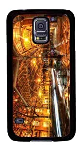 Customized Samsung Galaxy S5 Black Edge PC Phone Cases - Personalized England At Night Cover