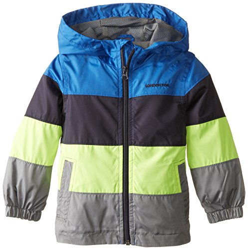 London Fog Little Boys' Toddler Color Block with Mesh Lining, Blue, 3T