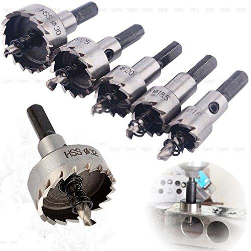 Yosoo 6pcs/set Carbide Tip HSS Drill Bit Hole Saw Set