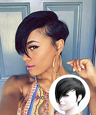 Short human hair wigs for black women can not