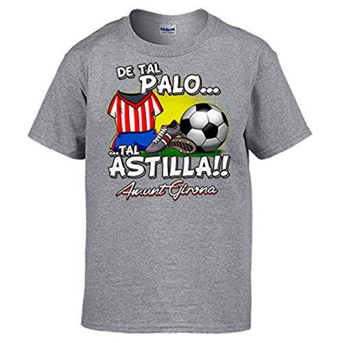 Camiseta De tal palo tal astilla Girona fútbol: Amazon.es: Ropa y accesorios