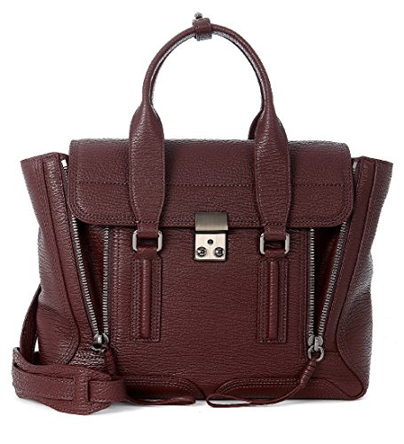 31-phillip-lim-womens-31-phillip-lim-pashli-dark-bordeaux-leather-medium-satchel-red
