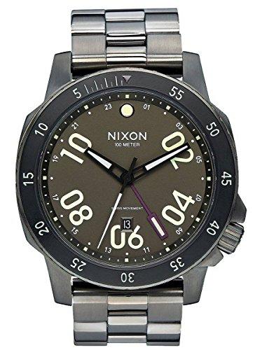 Gunmetal Grey/Lum The Ranger GMT Watch by Nixon