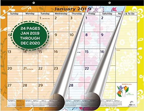 Large Desk Calendar 2019 2020, 22