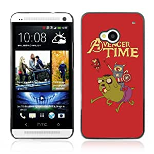 CQ Tech Phone Accessory: Carcasa Trasera Rigida Aluminio Para HTC One - Funny Avenger Time Adventure Time MIX