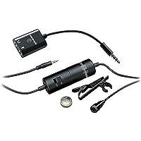 Microfone de Lapela, Audio-Technica, ATR3350IS, Preto