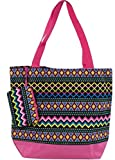 Best Ever Moda Baby Evers - Ever Moda Pink Aztec Tote Bag, Large 17-inch Review