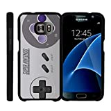 TurtleArmor | Compatible for Samsung Galaxy S7 Case | G930 [Slim Duo] Two Piece Hard Cover Slim Snap On Case on Black – Classic Game Controller