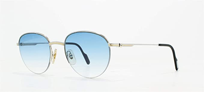 9a5d6a5944 Cartier Colisee T8200.120 SLV Silver Vintage Sunglasses Round For Men and  Women  Amazon.co.uk  Clothing