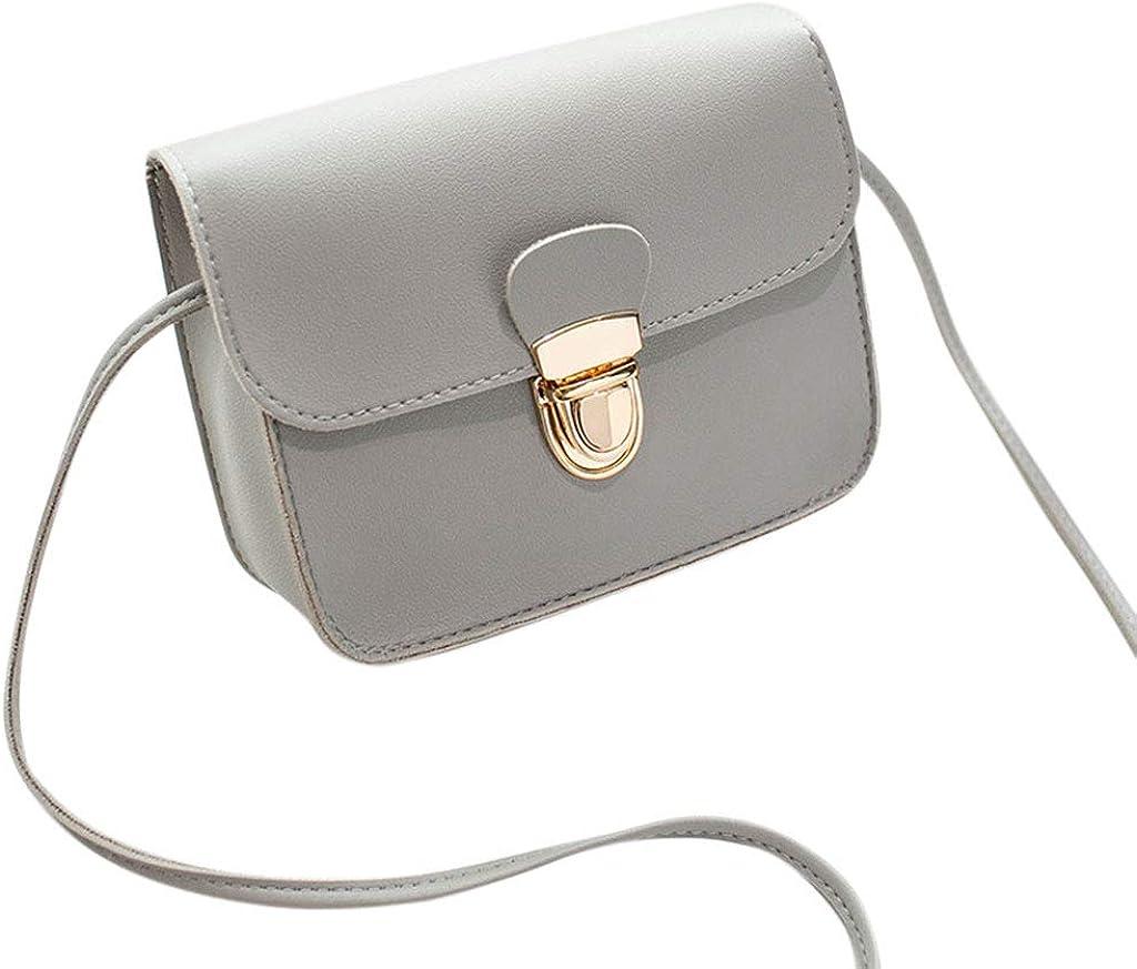 Yearkala Women PU Leather Small Handbag Satchel Messenger Crossbody Shoulder Bag Purse