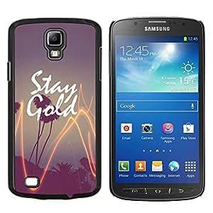 YiPhone /// Prima de resorte delgada de la cubierta del caso de Shell Armor - paja de palma de oro de California del árbol de la puesta del sol - Samsung Galaxy S4 Active i9295