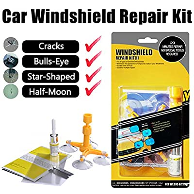 GLISTON Car Windshield Repair Kit for Chips and Cracks: Automotive