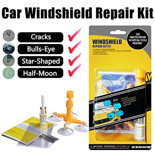 (GLISTON Car Windshield Repair Kit for Chips and Cracks)