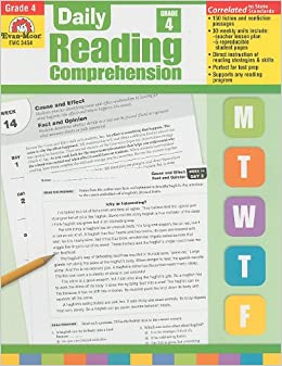 Worksheet Reading Comprehension Grade 4 amazon com daily reading comprehension grade 4 9781608236350 4