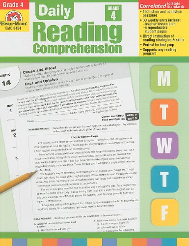 Daily Reading Comprehension, Grade 4 (Reading Comprehension Grade 4)