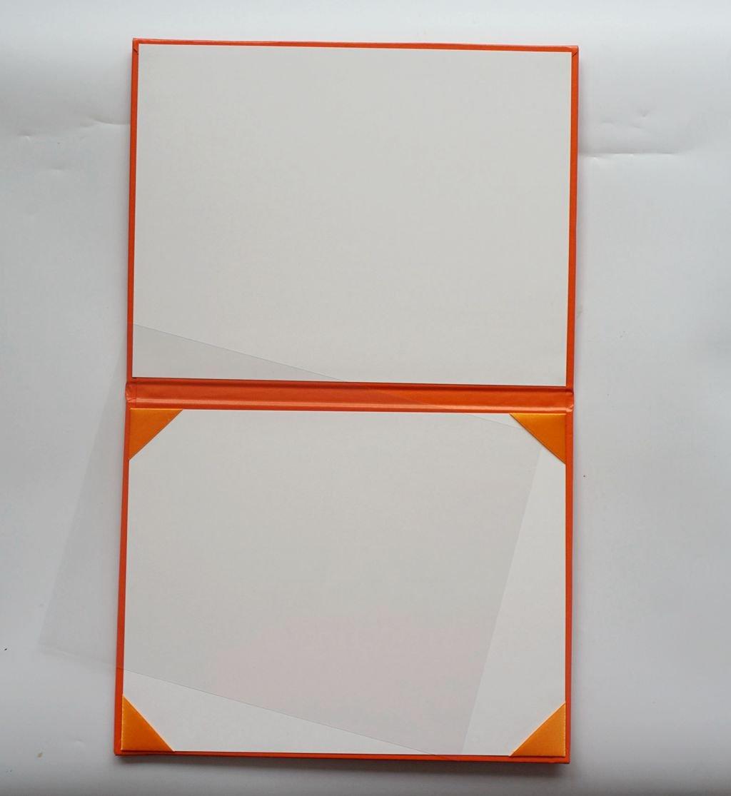 Orange Diploma Cover Smooth Certificate 8 1//2 x 11 Grad Days