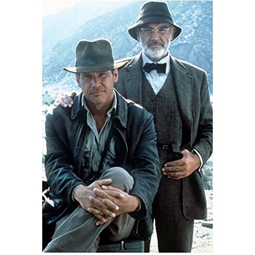 Sean Connery with Harrison Ford in Indiana Jones All Smiles 8 x 10 Inch Photo