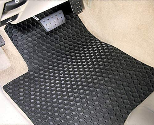 Custom Fit Auto Floor Mats for Select Mercedes-Benz 250 Models Rubber-Like Compound Clear Intro-Tech MB-143-RT-C Hexomat Front and Second Row 4-Pc