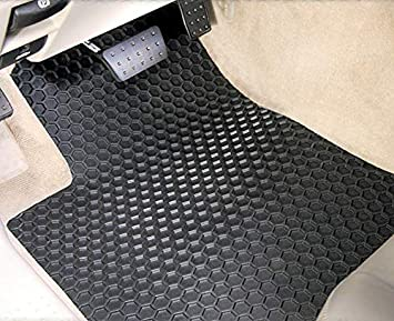 Rubber-like Compound Custom Fit Auto Floor Mats for Select Hyundai Azera Models Tan Intro-Tech HY-648R-RT-T Hexomat Second Row 2 pc